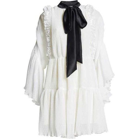 Romance Was Born Purity Ruffle Dress