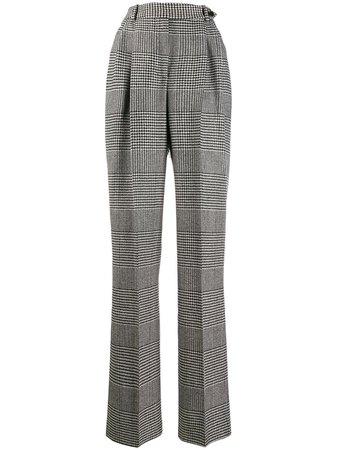 Ermanno Scervino Plaid high-waist Trousers - Farfetch