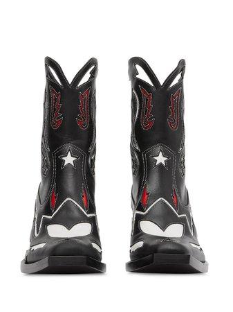 Burberry Topstitch Cowboy Boots | Farfetch.com
