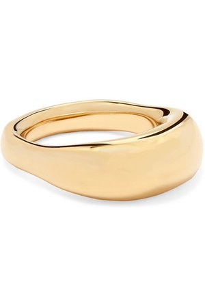 Jennifer Fisher | Tube gold-plated ring | NET-A-PORTER.COM