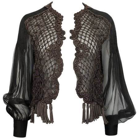 Spring 1994 Christian Dior by Gianfranco Ferre Numbered Runway Top or Jacket For Sale at 1stdibs