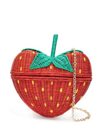 Shop red SERPUI Strawberry clutch bag with Express Delivery - Farfetch