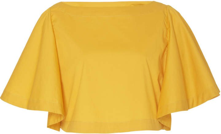 Johanna Ortiz Summer Haze Short Sleeve Crop Top Size: S