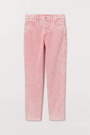 Mom High Ankle Jeans - Pink