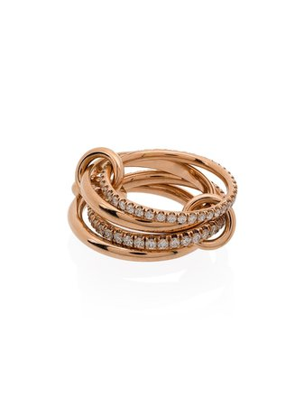 Spinelli Kilcollin 18kt Rose Gold Polaris Stacked Ring - Farfetch
