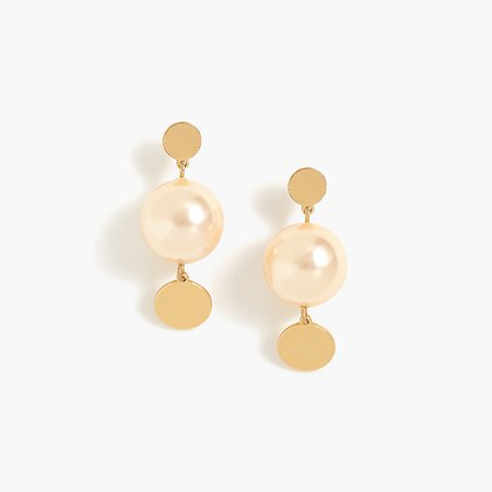 J.Crew: Pearl Drop Earrings For Women