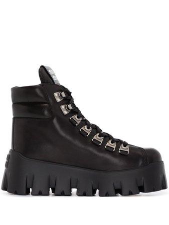 Miu Miu 70mm Platform Ankle Hiking Boots - Farfetch