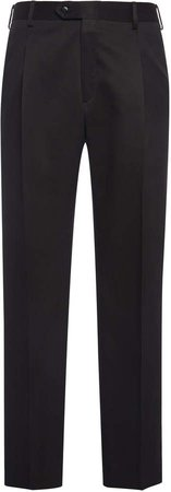 Brioni Silk Pleated Trousers