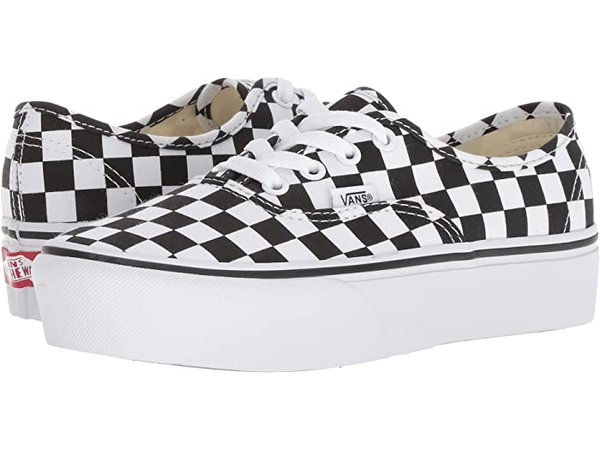 Vans Authentic Platform 2.0 Checkered Black/White | Zappos.com