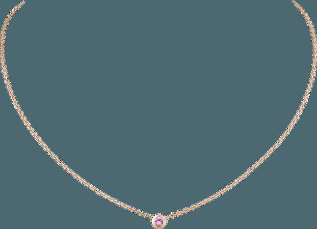 CRB7218400 - Saphirs Légers de Cartier necklace - Pink gold, pink sapphire - Cartier