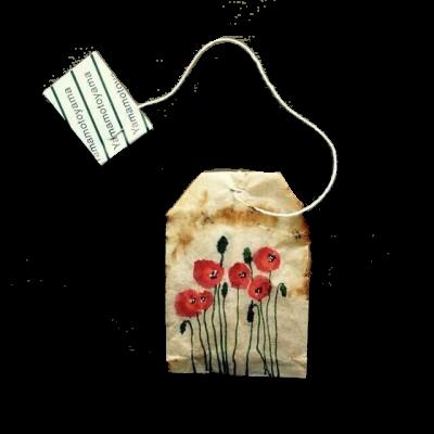 poppy tea bag