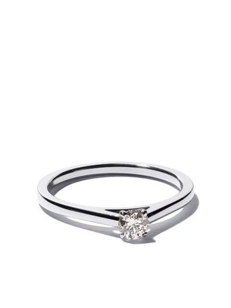 Platinum My First De Beers Db Classic Solitaire Diamond Ring Continuity   Farfetch.com