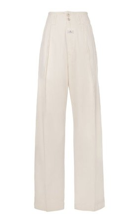 Pleated Cotton-Twill Wide-Leg Pants By Etro   Moda Operandi