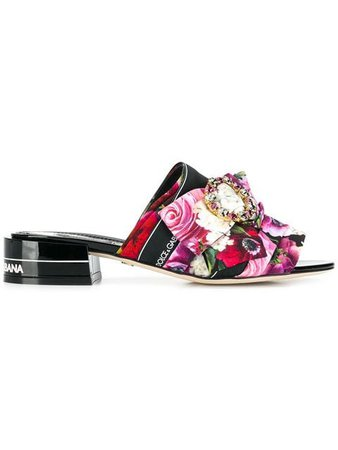 Dolce & Gabbana flower print mules $725 - Buy Online SS19 - Quick Shipping, Price
