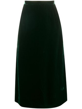 Valentino Pre-Owned 1980's gathered straight skirt - FARFETCH