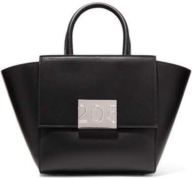 Bonnie Mini Canvas-trimmed Leather Tote - Black