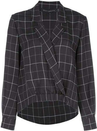 check print blouse
