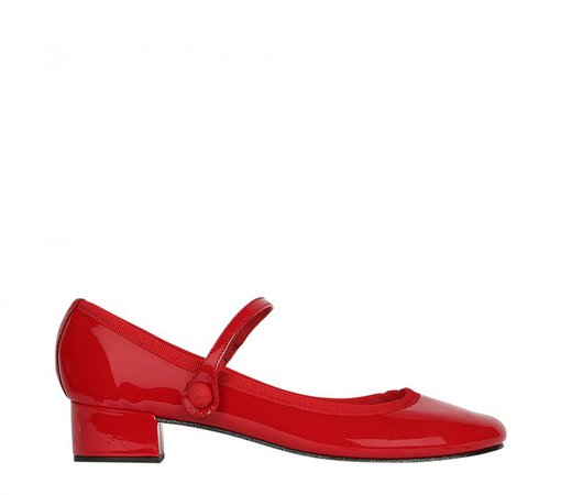 Repetto Rose Mary-Jane Patent leather Flammy red