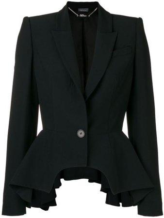 Shop black Alexander McQueen peplum detail blazer with Express Delivery - Farfetch