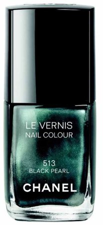 chanel nail lacquer black pearl 513 green