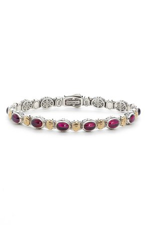Konstantino Silver Rhodolite Garnet Bracelet | Nordstrom