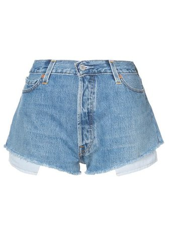 Re/Done Short Jeans - Farfetch
