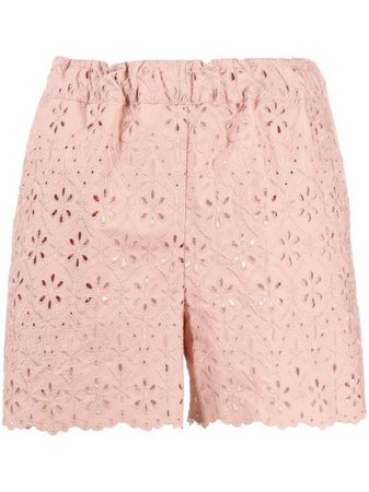 P.A.R.O.S.H. Embroidered Cotton Shorts - Farfetch
