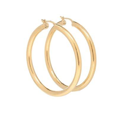 18Kt Gold-Plated Hoop Earrings - Bottega Veneta | Mytheresa