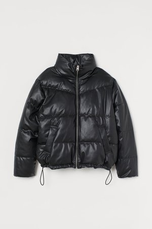 Boxy Puffer Jacket - Black