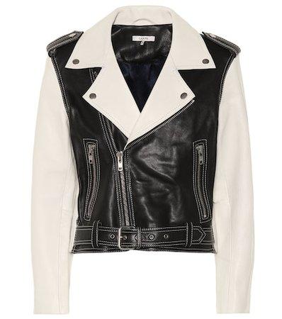 Heavy Grain leather biker jacket