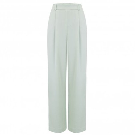 Vince Wide Leg Pull On Pant in Aloe