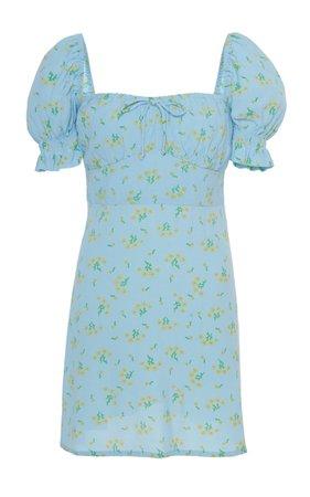 Faithfull The Brand Iris Floral-Pritnt Mini Dress