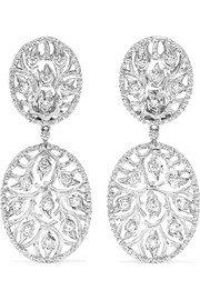 Martin Katz | Champagne 18-karat white gold diamond earrings | NET-A-PORTER.COM