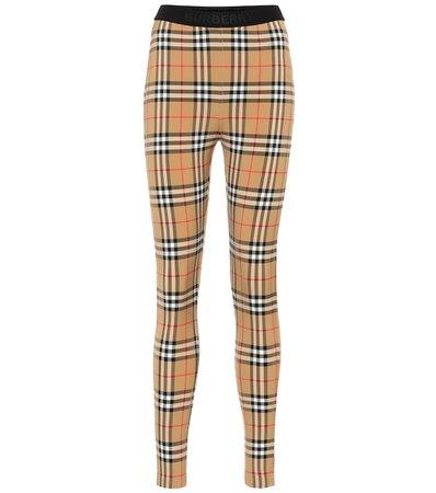 Burberry - Check leggings | Mytheresa