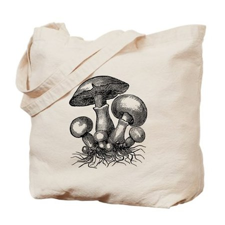 Vintage Mushrooms Illustration Tote Bag by listing-store-112282429