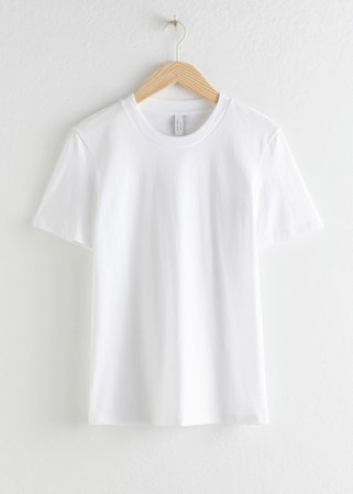 Organic Cotton T-shirt - White - Tops & T-shirts - & Other Stories