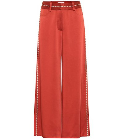 High-rise satin pants