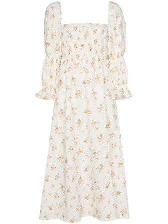 Reformation Hyland floral-print midi dress - FARFETCH