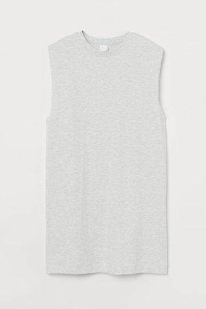 Sleeveless Jersey Dress - Gray