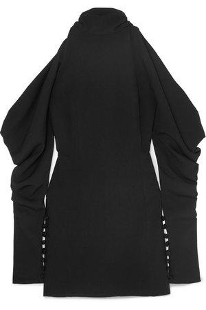 16ARLINGTON | Cold-shoulder crepe turtleneck mini dress | NET-A-PORTER.COM