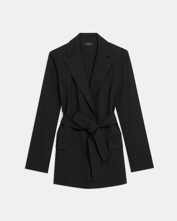 Good Linen Belted Blazer | Theory