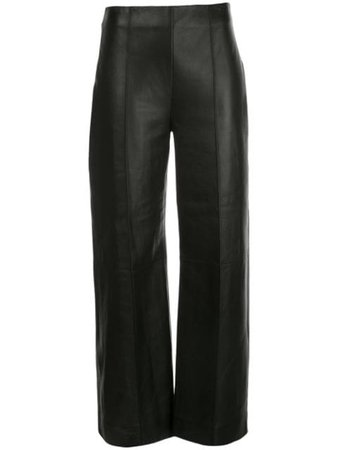 Oscar De La Renta Lamb Skin Cropped Trousers - Farfetch