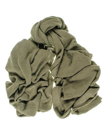 Lyst - Black.Co.Uk Oversized Military Green Knitted Cashmere Scarf in Green