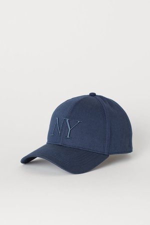 Cotton Twill Cap - Blue