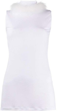 Styland pleated roll neck tank top