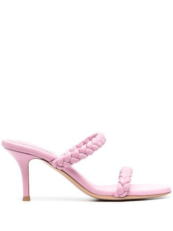 Shop pink Gianvito Rossi braided straps mules with Express Delivery - Farfetch