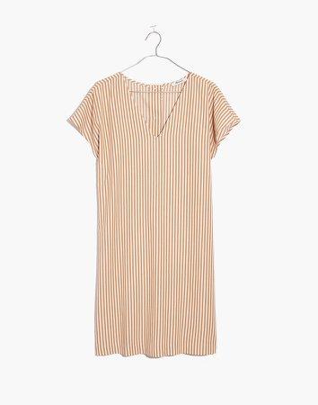 Button-Back Easy Dress in Stripe