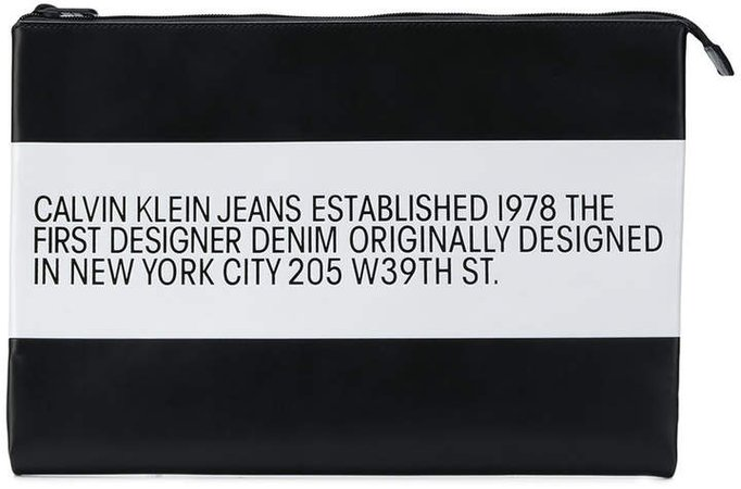 Est. 1978 logo striped pouch