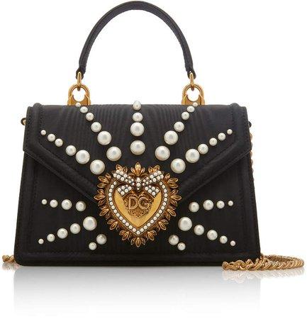 Devotion Faux-Pearl Embellished Leather Shoulder Bag