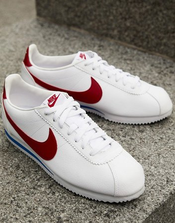 Nike Cortez leather sneakers in white 819719-103   ASOS